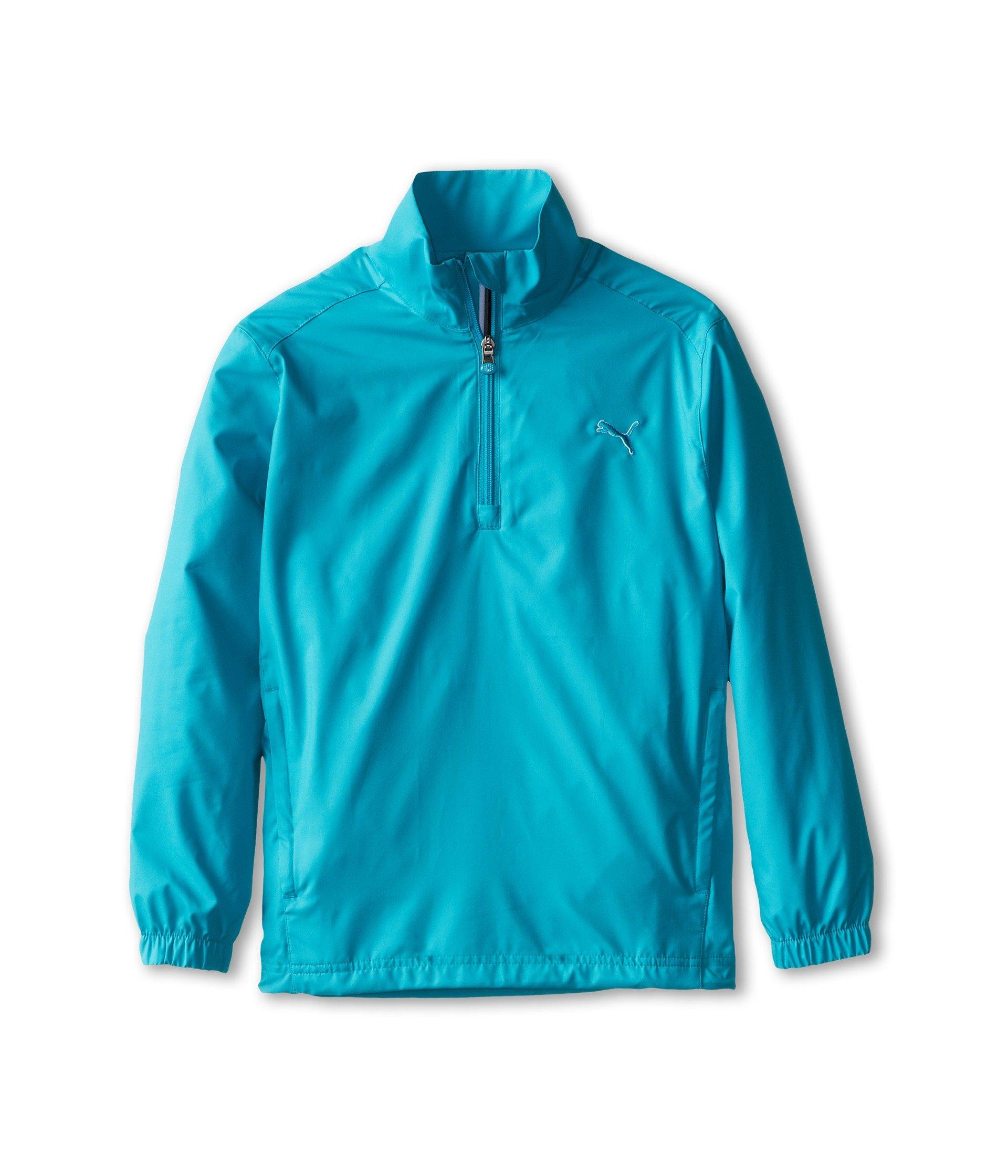 PUMA Golf NA Boy's Junior 1/2 Zip Wind Jacket, Bluebird, Small by PUMA