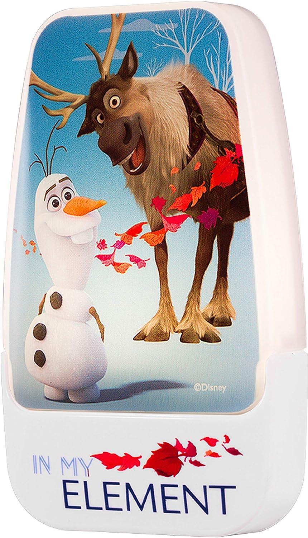 Disney Frozen 2 LED Night Light Olaf and Sven Plug-in, Dusk-to-Dawn Sensor, Girl's Room Décor, UL-Listed, Ideal for Bedroom, Nursery, Bathroom, 45830