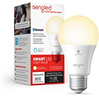 Sengled Smart LED Light Bulb, Compatible con Alexa, 800LM, Blanco suave 2700K, 8.7W (60W Equivalente), 1 Paquete…