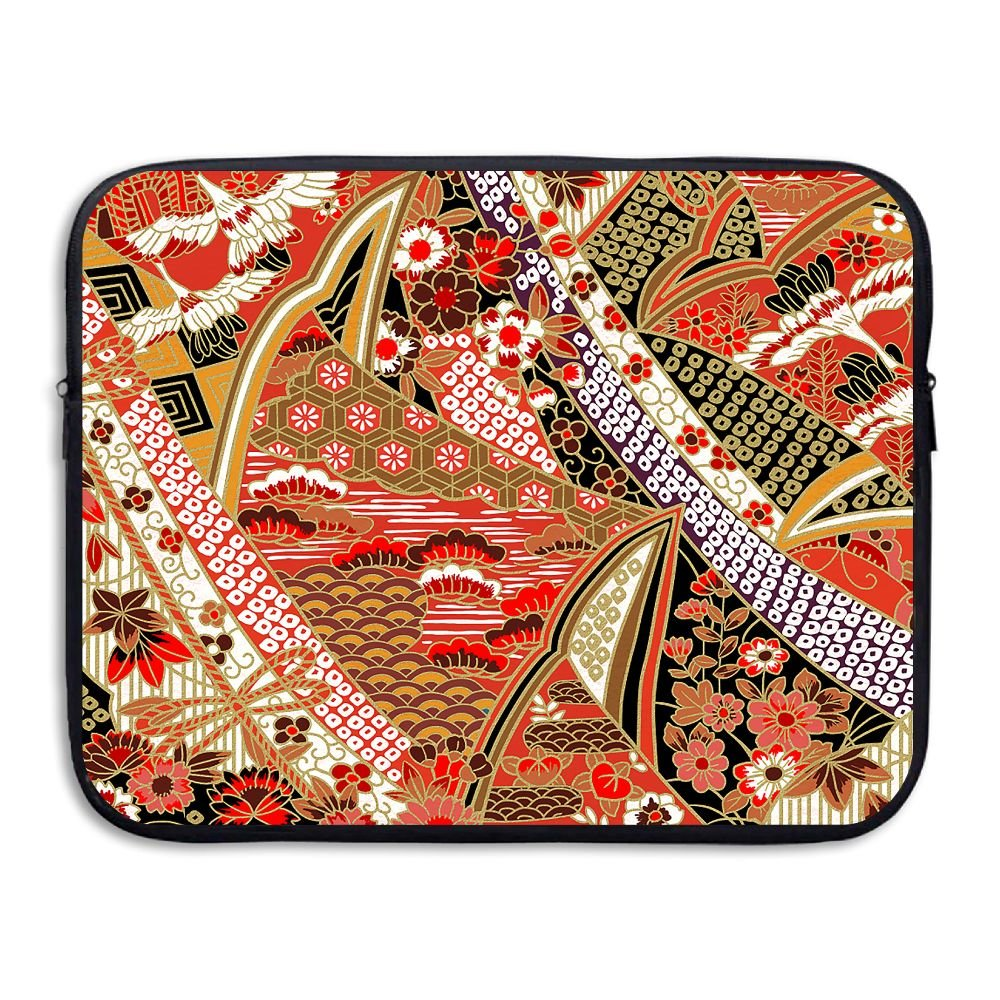 Ministoeb Chinese Red-Crowned Crane Love Laptop Storage Bag - Portable Waterproof Laptop Case Briefcase Sleeve Bags Cover