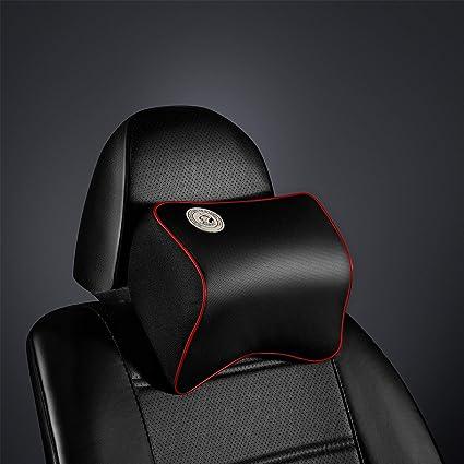 Coche Almohada cervical, bosoner conducción cómodo y suave Premium piel de espuma de memoria universal coche cuello almohada cómodo almohada ...