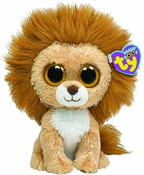 Ty 7136034 Beanie Boos - León de peluche King, 15 cm [Importado de Alemania