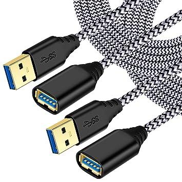 Amazon.com: Besgoods 2-Pack Nylon Trenzado 10ft USB 3.0 ...