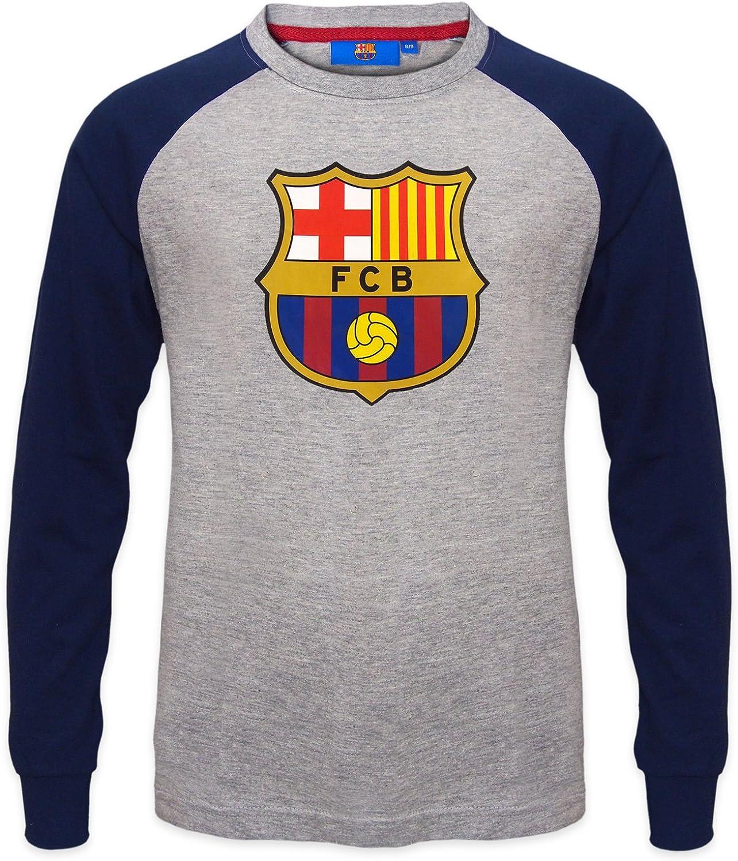 Camiseta de Manga Larga con Escudo del FC Barcelona Escudo de ...