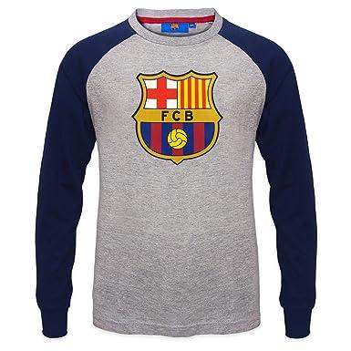FC Barcelona - Camiseta oficial con mangas raglán - Para niños - Con el  escudo del club  Amazon.es  Ropa y accesorios 3a73496ec68f7