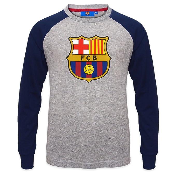 FC Barcelona - Camiseta oficial con mangas raglán - Para niños - Con el escudo del club: Amazon.es: Ropa y accesorios