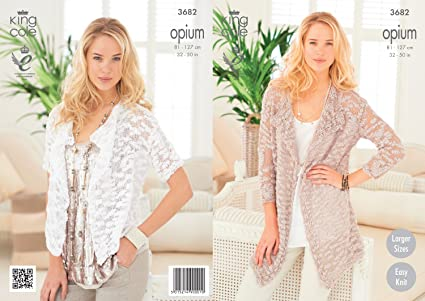 1a5d15fa1 Image Unavailable. Image not available for. Color  King Cole Womens  Knitting Pattern Ladies Opium ...