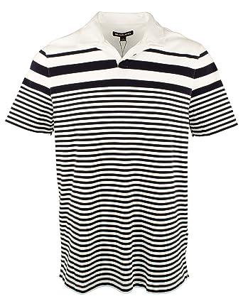 Michael Kors Mens Open Placket Polo Shirt-W-XXL White: Amazon.es ...