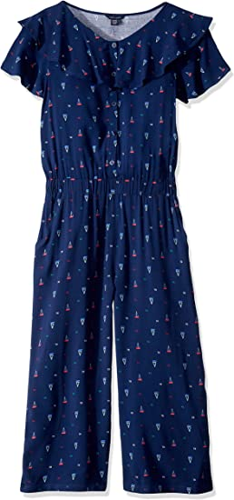Tommy Hilfiger Big Girls Printed Jumpsuit