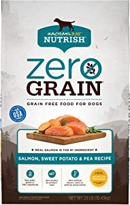 Rachael Ray Nutrish Zero Grain Natural Dry Dog Food, Salmon & Sweet Potato Recipe, 23 Pounds, Grain Free
