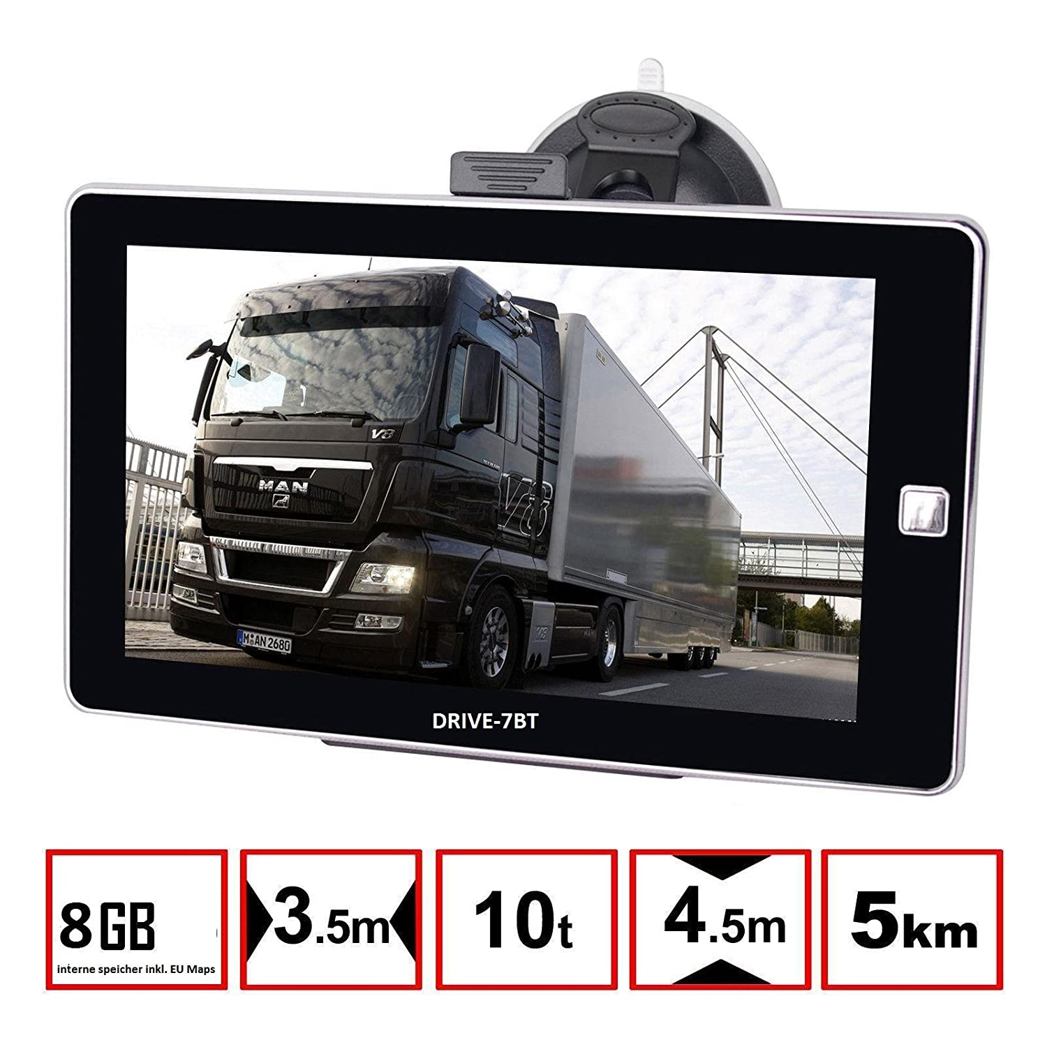 7 gps navigationsger t navi drive 7bt f r lkw pkw bus. Black Bedroom Furniture Sets. Home Design Ideas