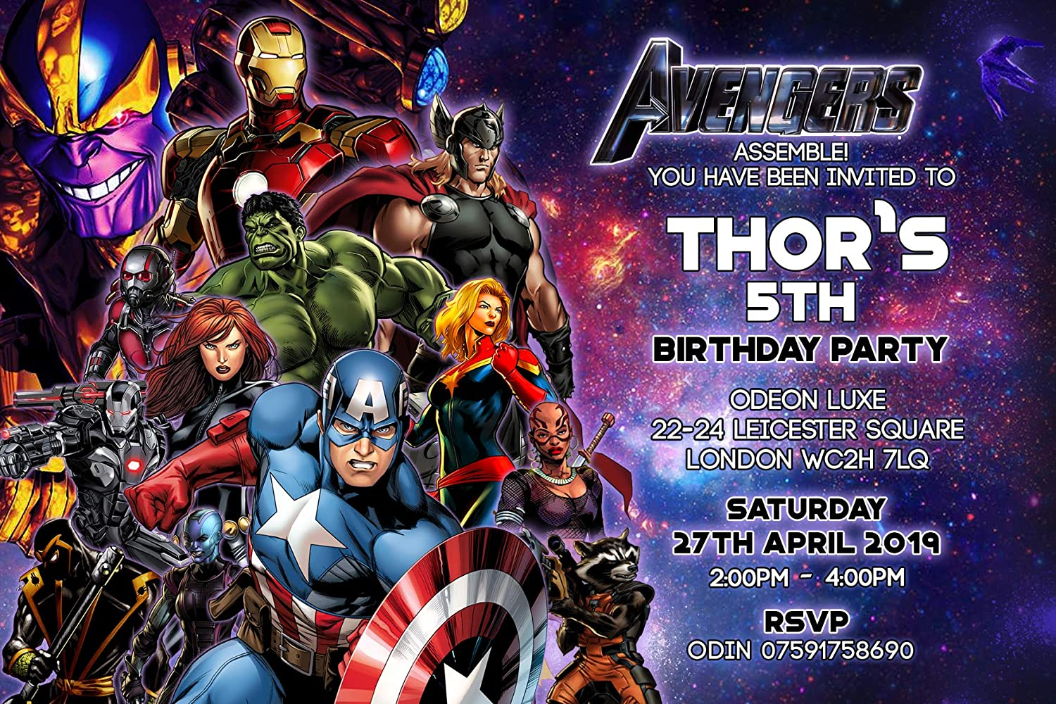 avengers party invitations envelopes end game personalised click customize now for prices k209