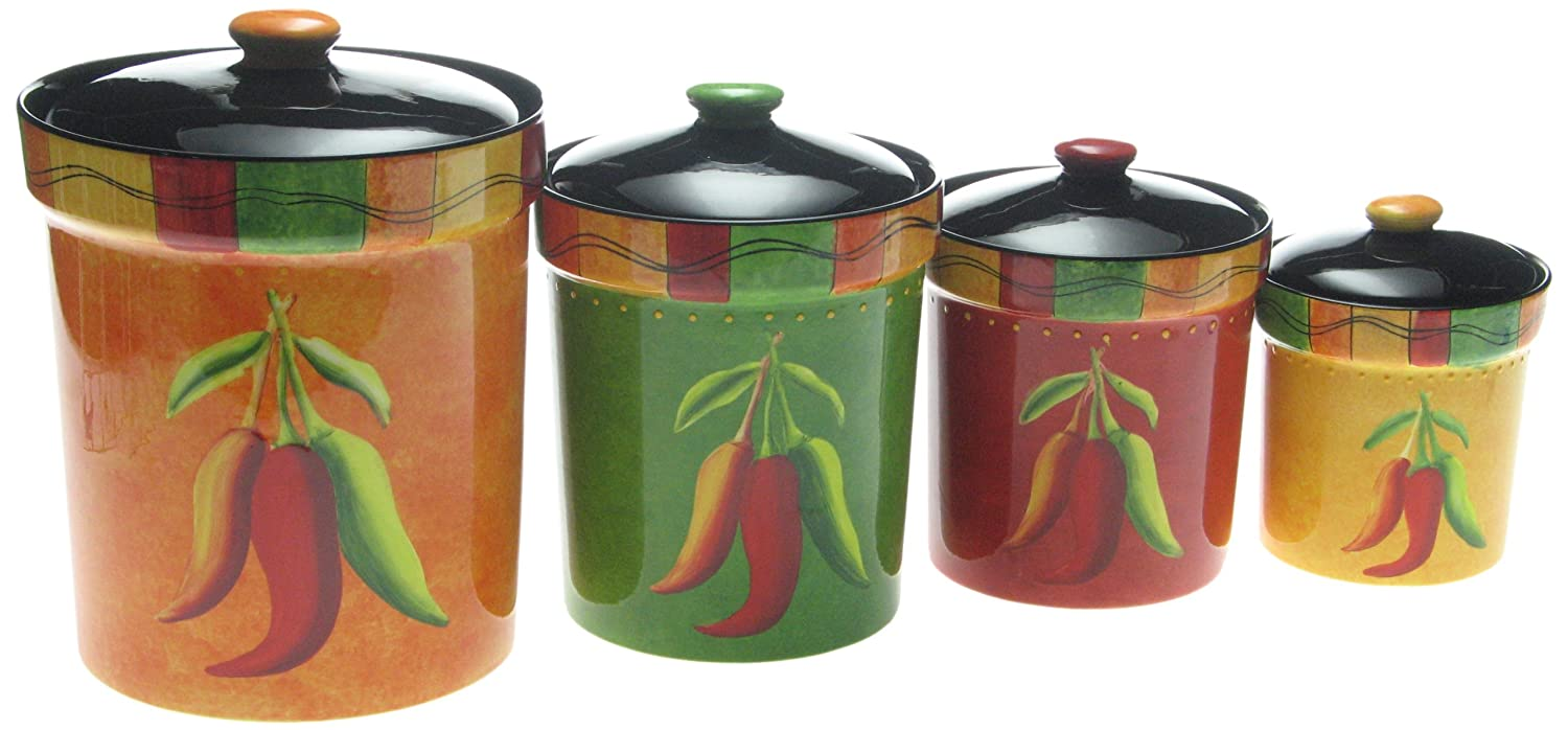 amazon com certified international caliente 4 piece canister set