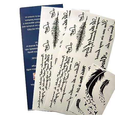 kotbs temporal tatuajes papel diseño de Inglés palabras y plumas ...