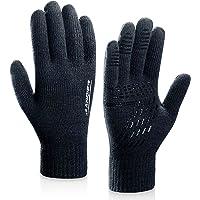 coskefy Winter Handschuhe Gestrickte Touchscreen Frauen Männer Gloves Laufen Wolle Warm Ostern Weihnachten Geburtstag Sport Fahrrad Reiten Camping Wandern Arbeit Bequem
