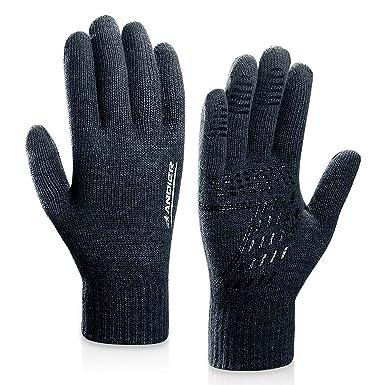 e7de38a0b7ece0 coskefy Winter Warm Gestrickte Touchscreen Handschuhe für Frauen Männer  Gloves Wolle Ostern Weihnachten Sport Fahrrad Reiten