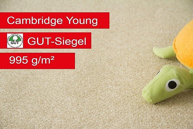 Silber Gr/ö/ße: 200x200 cm Auslegware f/ür Kinderzimmer Wohnzimmer Schlafzimmer Steffensmeier Teppichboden Cambridge Young Meterware