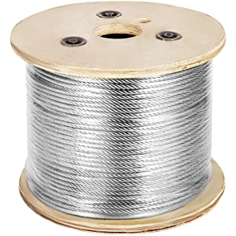 "250-Foot Spool All Diameters and Lengths Available Premier Stainless Solutions 3//16/"" 7x7 Stainless Steel Semi-Flexible Cable T316 Marine Grade"