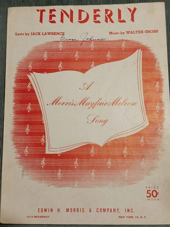 TENDERLY WALTER GROSS 1946 SHEET MUSIC FOLDER 441 SHEET MUSIC