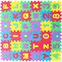 BESPORTBLE 36 Stks Kids Foam Puzzel Speelkleed in Elkaar Grijpende Eva Vloertegels Met Alfabet en Cijfers (Willekeurige…