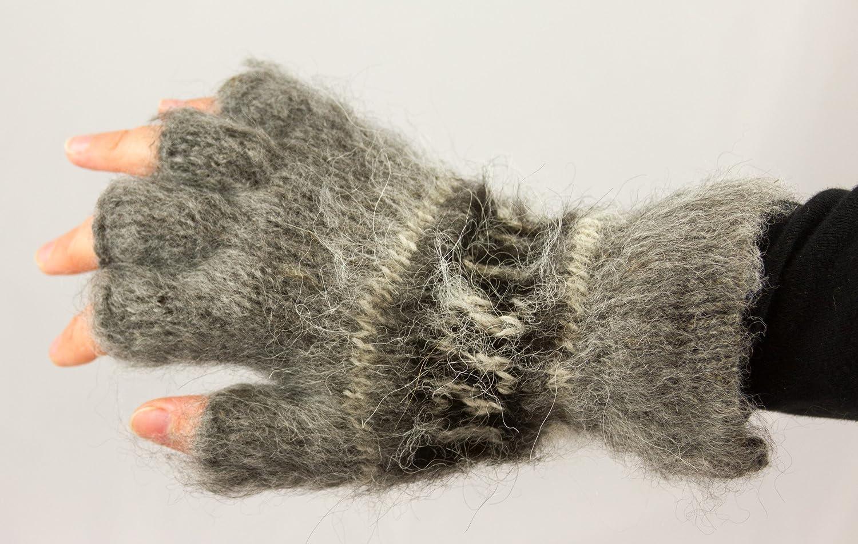 Alpaka Fingerlose Handschuhe Fair Trade in nat/ürlichen Farben erh/ältlich Einheitsgr/ö/ße