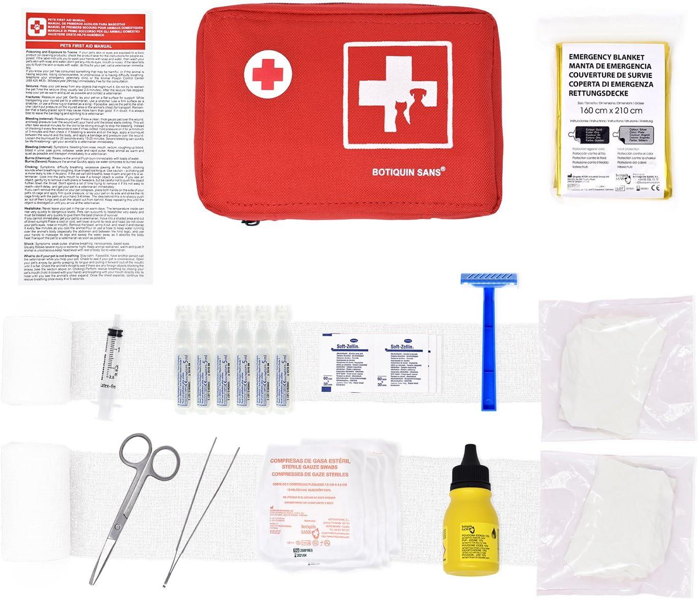 Botiquín NYLON de primeros auxilios para MASCOTAS: Amazon.es: Salud y cuidado personal