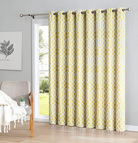 ME Trellis Print Thermal Grommet Blackout Patio Door Curtain For Sliding  Doors   Living