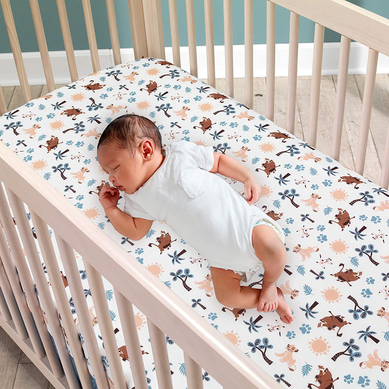 Lambs Ivy Lion King Adventure 3piece Baby Crib Bedding Set Blue