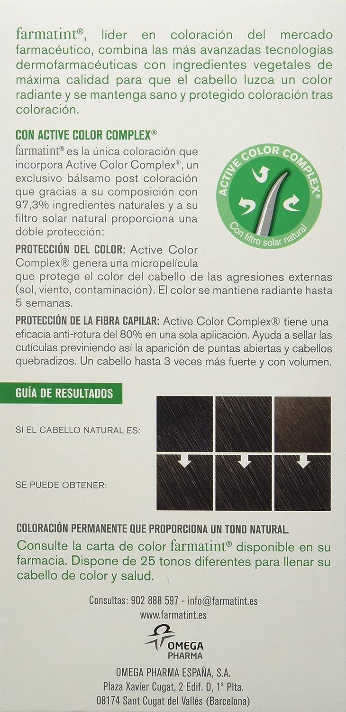 Farmatint Gel 3N Castaño Oscuro   Color natural y duradero   Componentes vegetales y aceites naturales   Sin amoníaco   Sin parabenos   ...