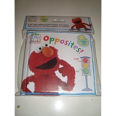 "Sesame Street Elmo's World ""Opposites"" Bath Time Bubble Book : Bathtub Books : Baby"