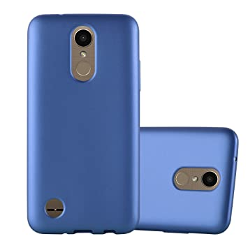 Cadorabo Funda para LG K10 2017 en Metallic Azul – Cubierta Proteccíon de Silicona TPU Delgada e Flexible con Antichoque – Gel Case Cover Carcasa ...