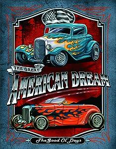 """Desperate Enterprises Legends - American Dream Tin Sign, 12.5"""" W x 16"""" H"""