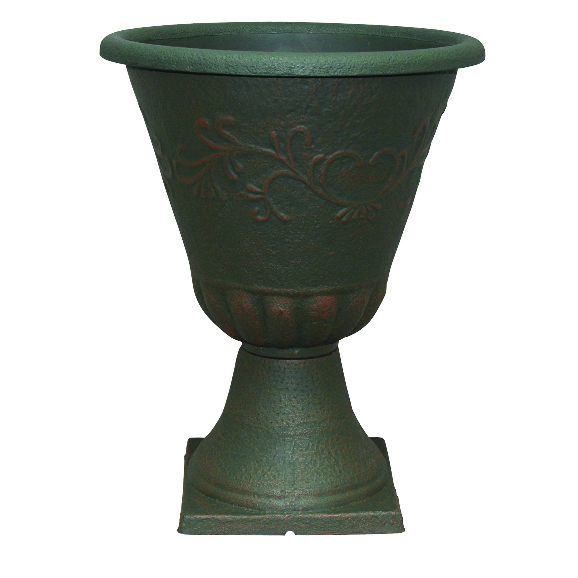Southern Patio 16'' Diameter and 21'' Tall Sonoma Urn, Rust Brown
