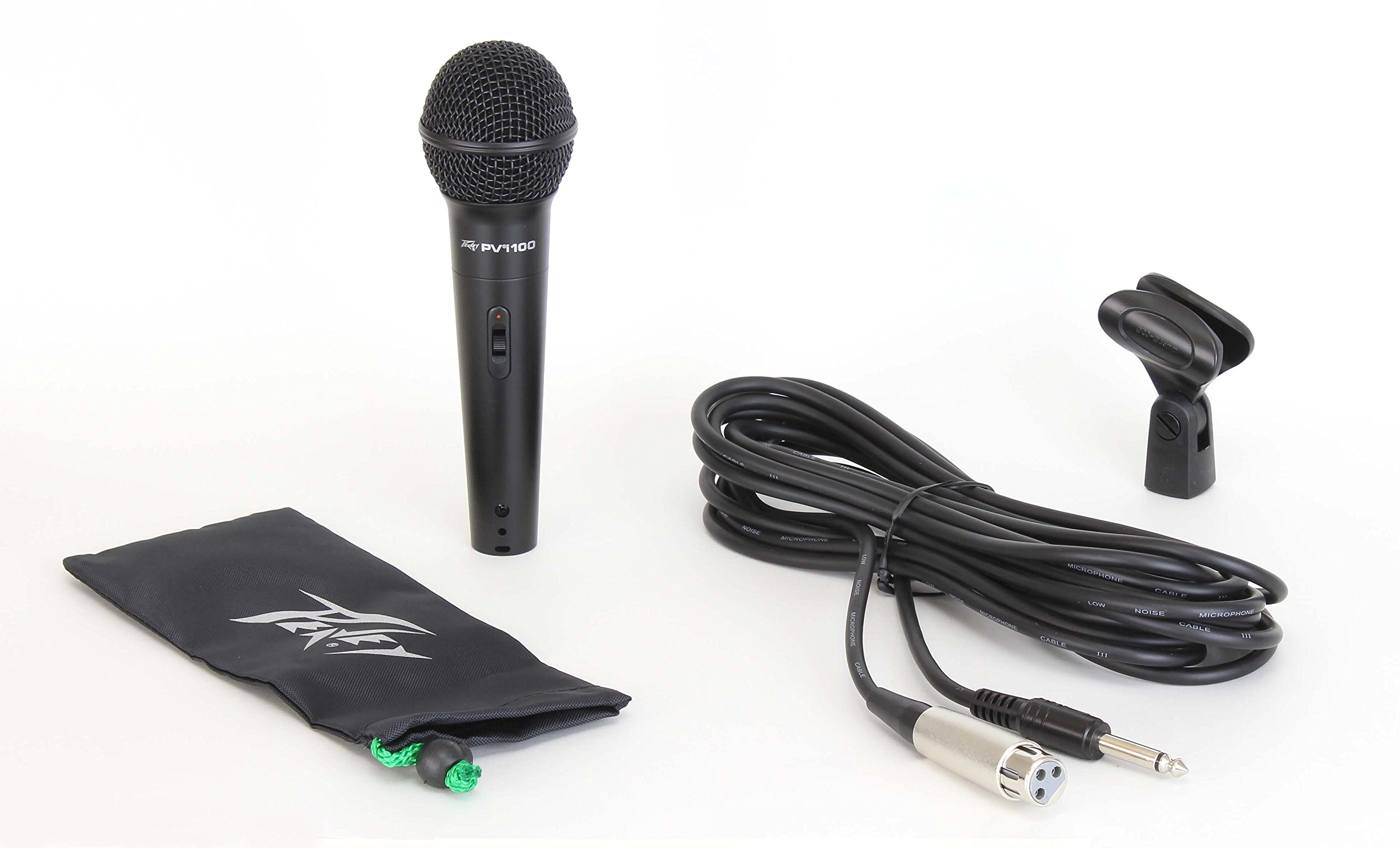 Peavey Pvi 100 Dynamic Vocal Cardiod Microphone with 1/4 Inch Cable and Clip by Peavey