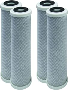 4-Pack Replacement GE GXWH04F Activated Carbon Block Filter - Universal 10 inch Filter for GE HOUSEHOLD PRE-FILTRATION SYSTEM