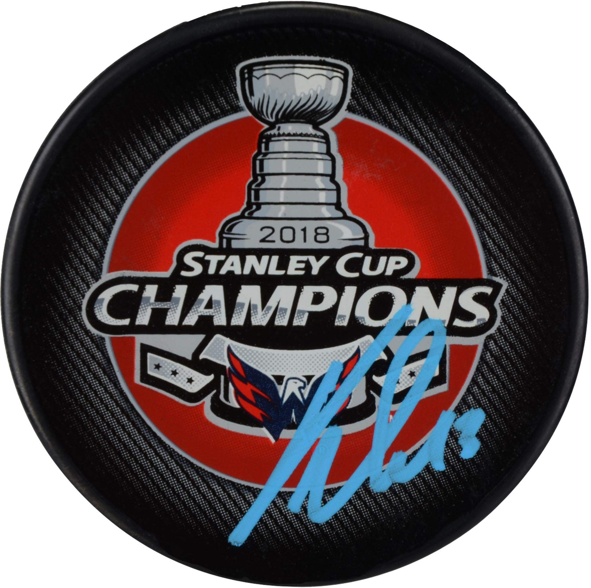 Jakub Vrana Washington Capitals 2018 Stanley Cup Champions Autographed Stanley Cup Champions Logo Hockey Puck Fanatics Authentic Certified