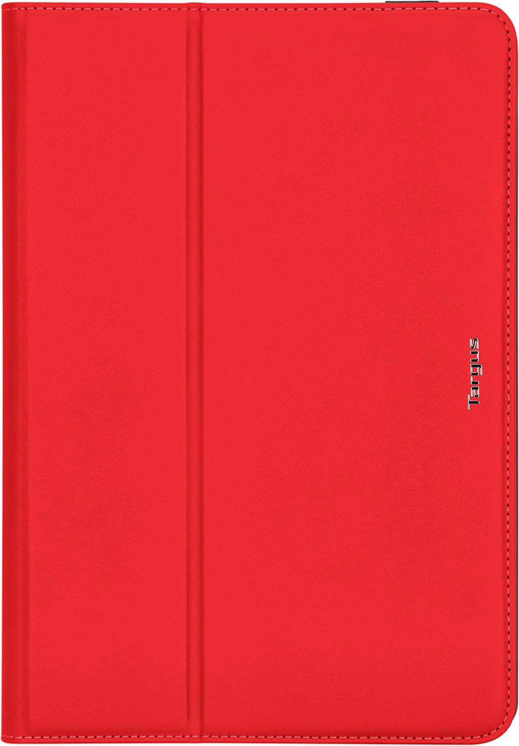 Targus VersaVu Classic Apple iPad (7th gen) 10.2-inch, iPad Air 10.5-inch, iPad Pro 10.5-inch Protective Case with Slim Trifold Stand Cover, Enhanced Audio, Secure Strap Closure, Red (THZ85403GL)