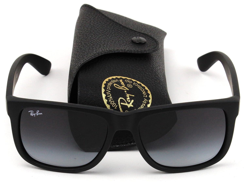 5811950ad5d47 Amazon.com  Ray-Ban RB4165 601 8G Justin Unisex Sunglasses Black Frame    Gray Gradient Lens  Shoes