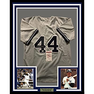 new arrivals 339d8 8935c Framed Autographed/Signed Reggie Jackson 33x42 New York ...