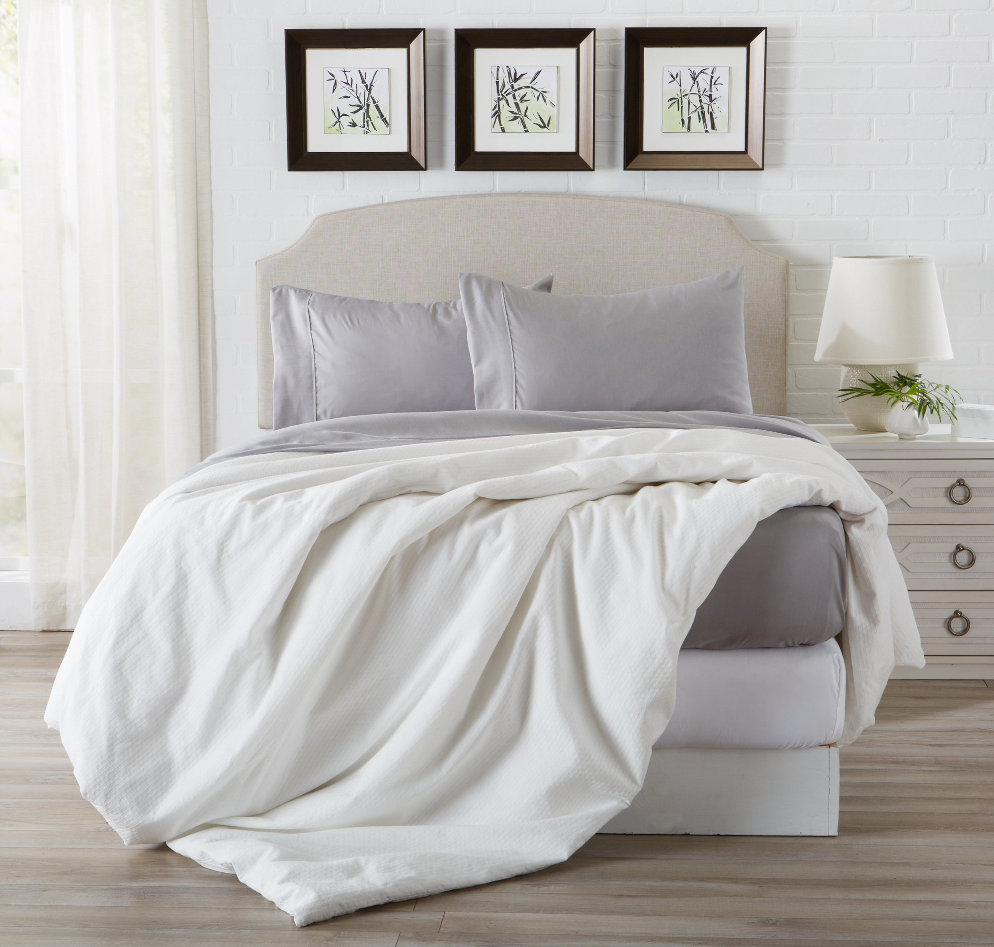 Great Bay Home Luxury Ultra Soft Bamboo Sheet Set. Spa-Quality, Comfortable, All-Season Bed Sheets. By Brand. (King, Paloma Grey) by Great Bay Home (Image #7)