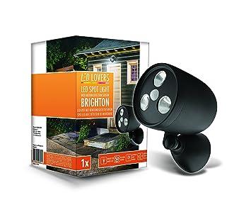 LED LOVERS Sensor de Movimiento con Luz de Exterior | Foco Inalábrico LED para Exteriores |