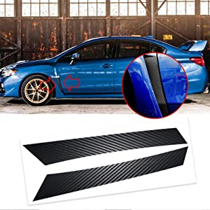 Xotic Tech 5D Carbon Fiber Style Fender Vent Overlays Vinyl Decal Trim for Subaru WRX STI 2015-2020