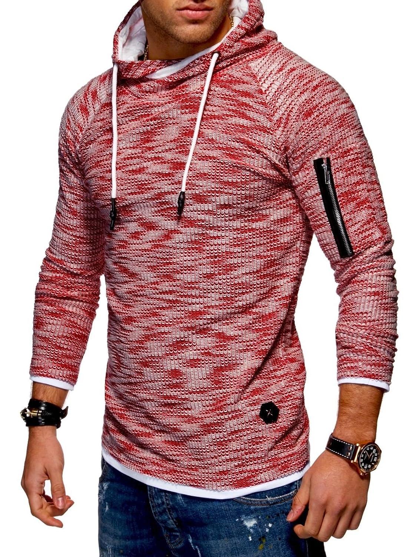 BEHYPE Men's Sweater Jumper Hoodie Sweatshirt Pullover Longsleeve Henley MT-7432