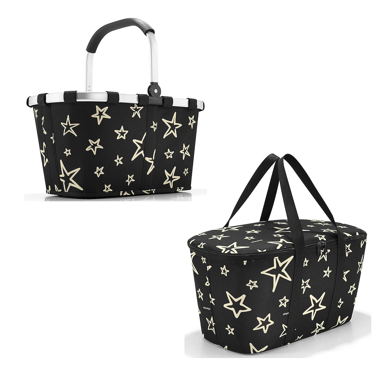 Schönes reisenthel Einkaufsset 2tlg. Bestehend aus reisenthel carrybag/Einkaufskorb und reisenthel coolerbag/Kühltasche in Dem Trendigen Dekoren, Stars