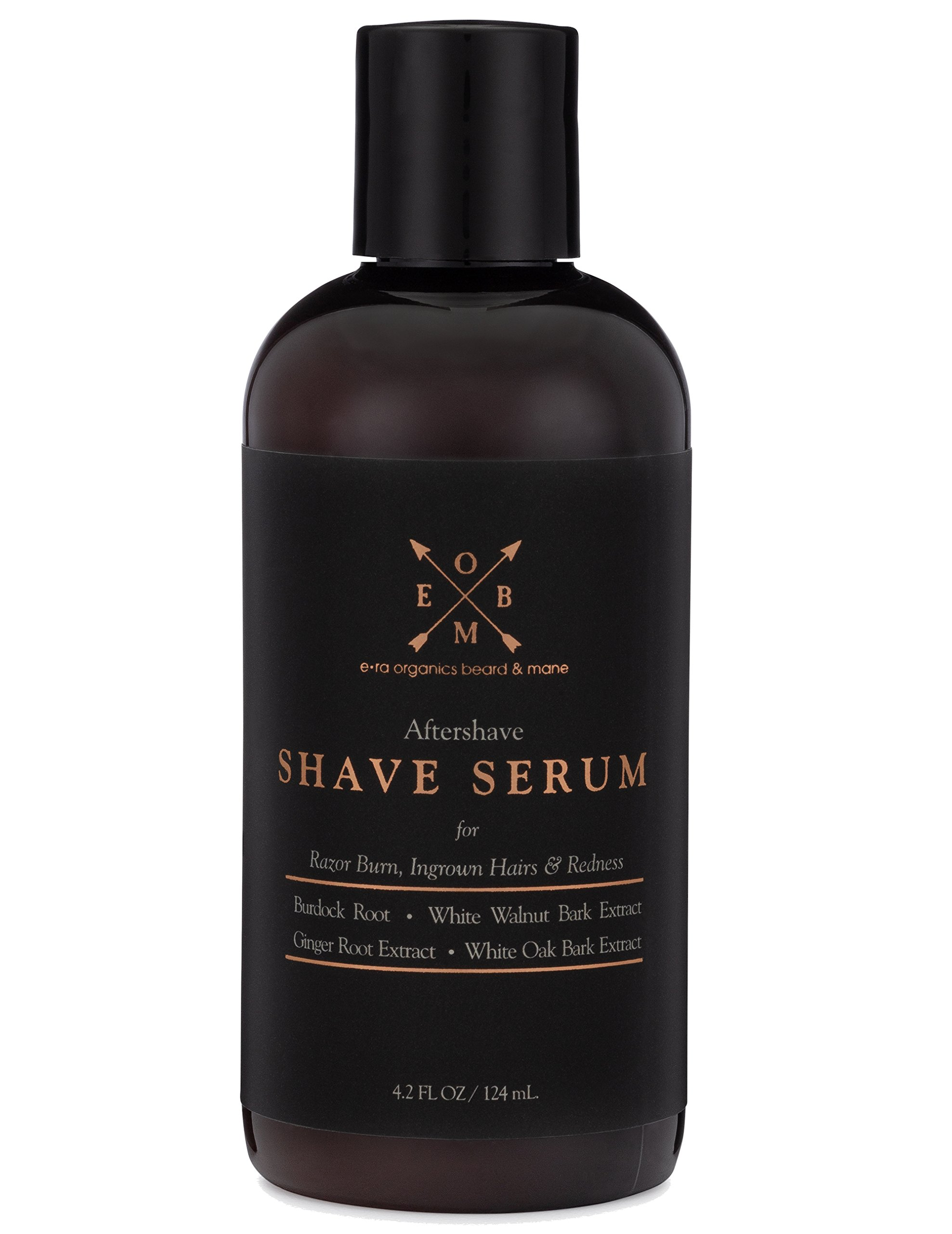 Aftershave Serum for Razor Bumps And Ingrown Hairs (4.2oz) Natural & Organic Ingredients to Prevent Razor Burn, Soothe Inflammation & Ingrown Hair Treatment With Ginger Root, Burdock Root,Black Walnut