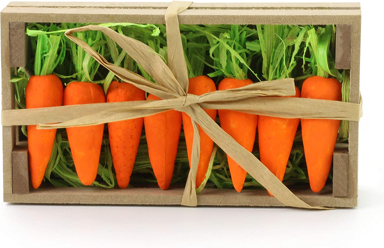 Pack of small foam carrots