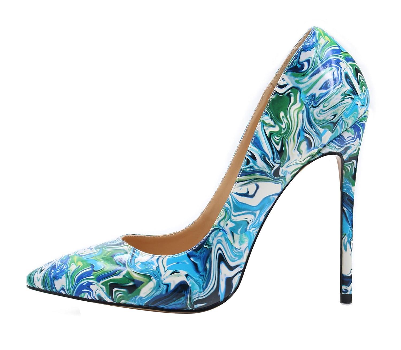 UBeauty Damen Damen UBeauty High Heels Stilettos Slip-on Pumps Spitze Zehen Klassischer Übergröße Schuhe Mehrfarbig A 5f59ad