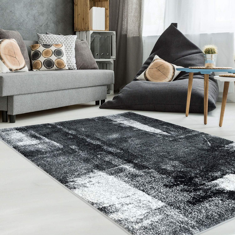 Carpet city Teppich Teppich Teppich Modern Designer Wohnzimmer Inspiration Arte Meliert Vintage Grau Schwarz Größe 200 290 cm b64c65