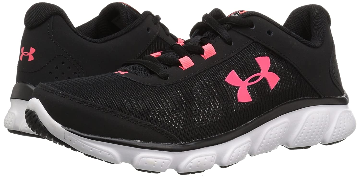 Under Armour Women's Micro G Assert 7 M Sneaker, Black/White/White B071NTCQ7B 12 M 7 US|Black b8fdce