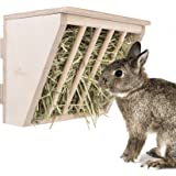 Niteangel Pet Wooden Hay Manger with Seat, Large Size, 9-7/8'' x 6-3/4'' x 8''